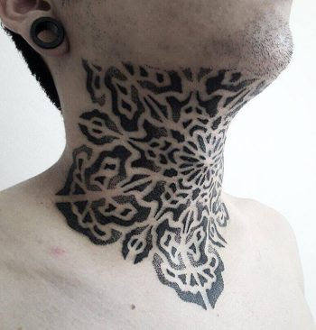 Blackwork pattern tattoo by carlos saconi