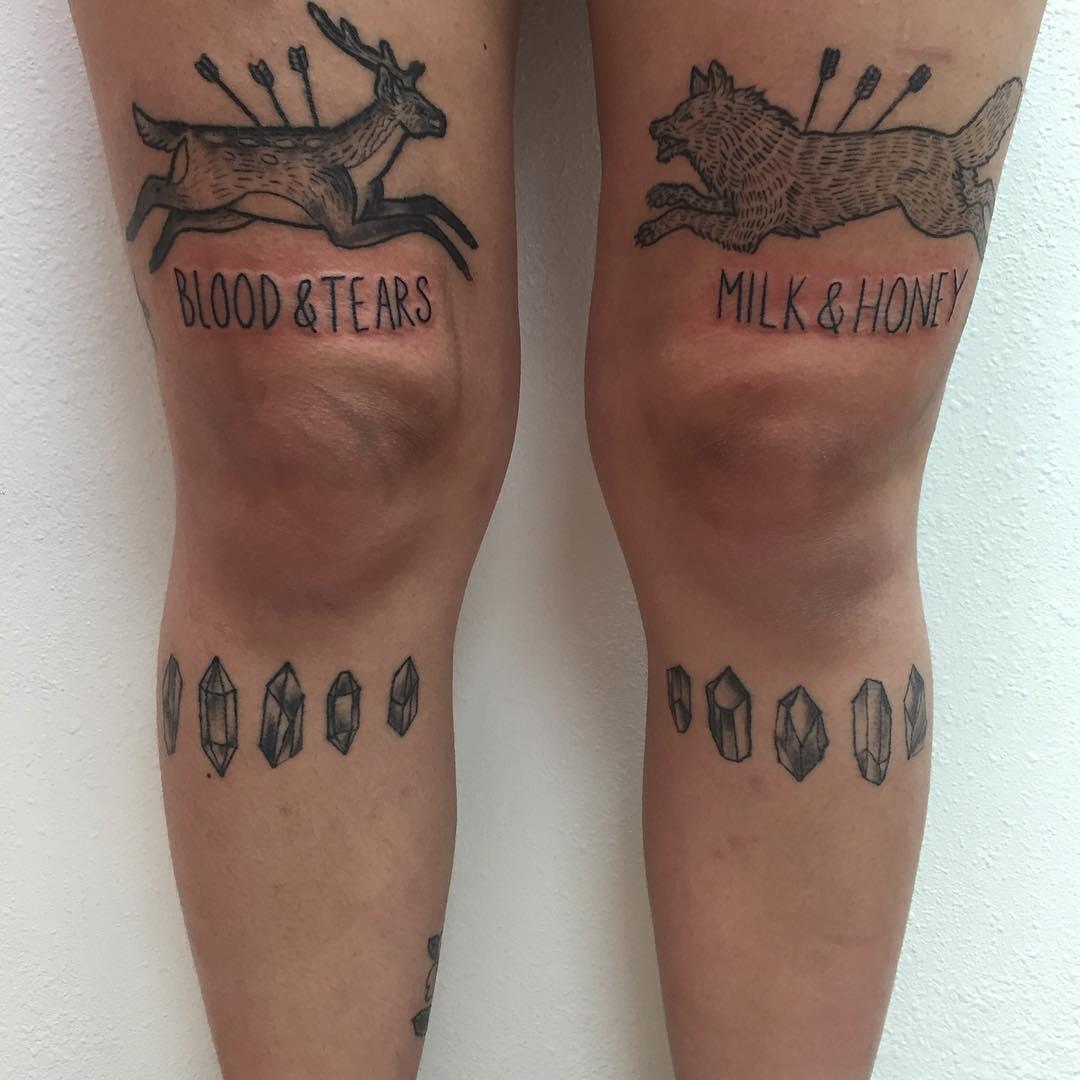 Blood & tears milk & and honey tattoos