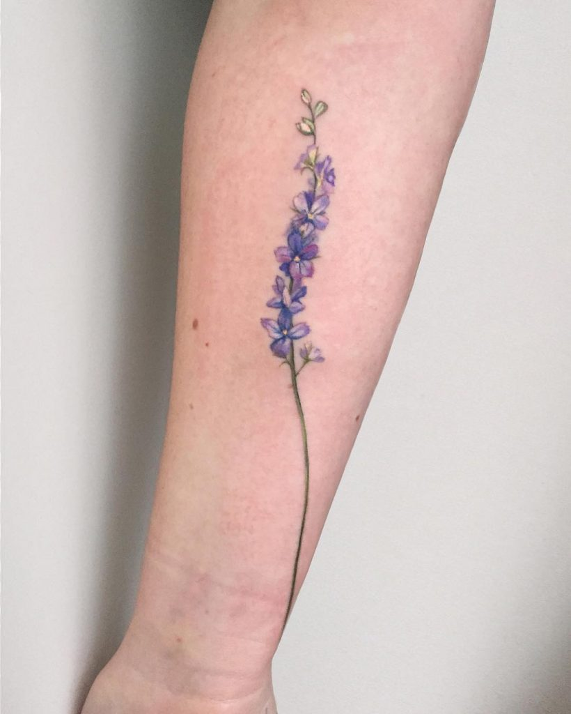 Blooming lavender tattoo