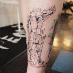 Burning man from fahrenheit 451 tattoo
