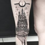 Castle tattoo by thomas eckeard