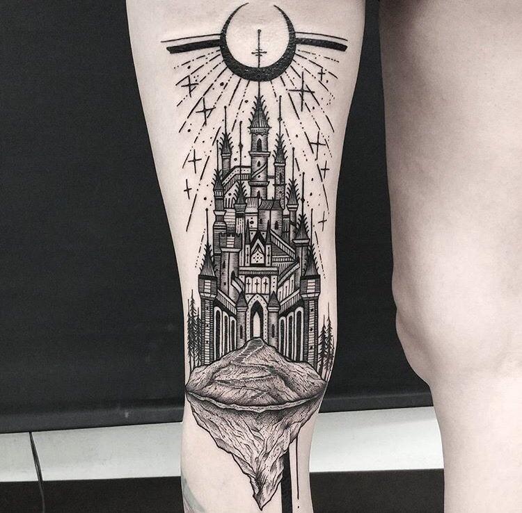 Castle tattoo by thomas eckeard