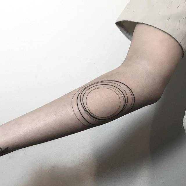 Circles tattoo by jessica aaron