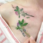Clover with grass tattoo