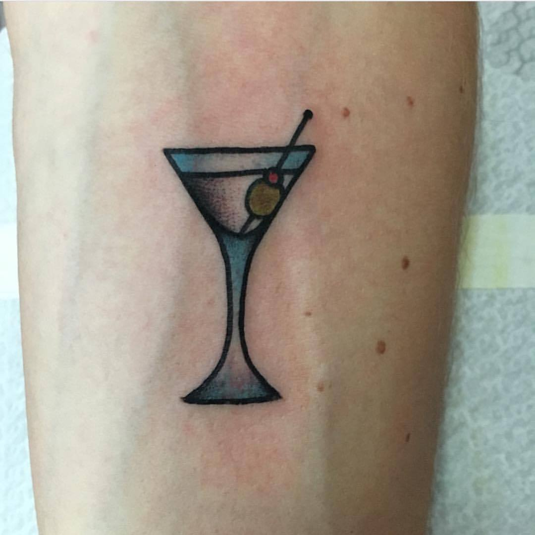 Cocktail glass tattoo by jeroen van dijk