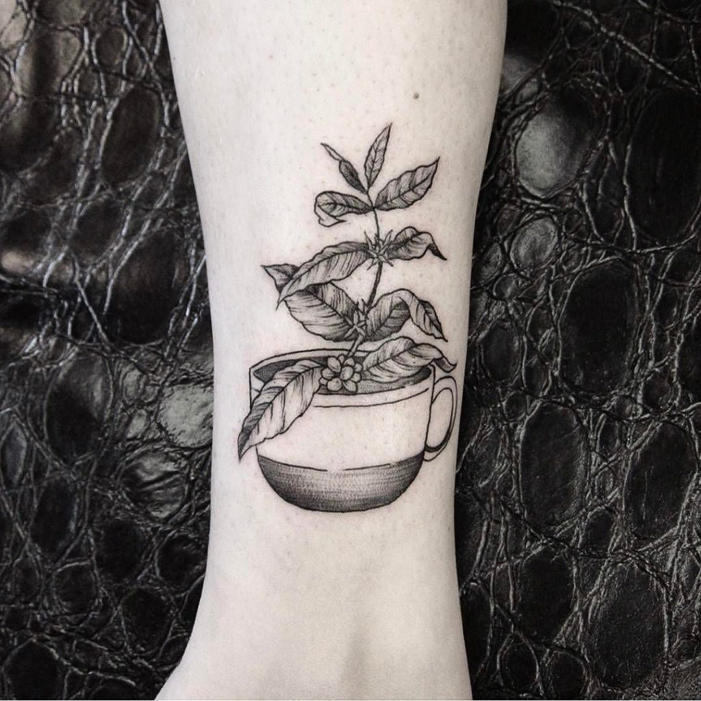 Coffee plant tattoo