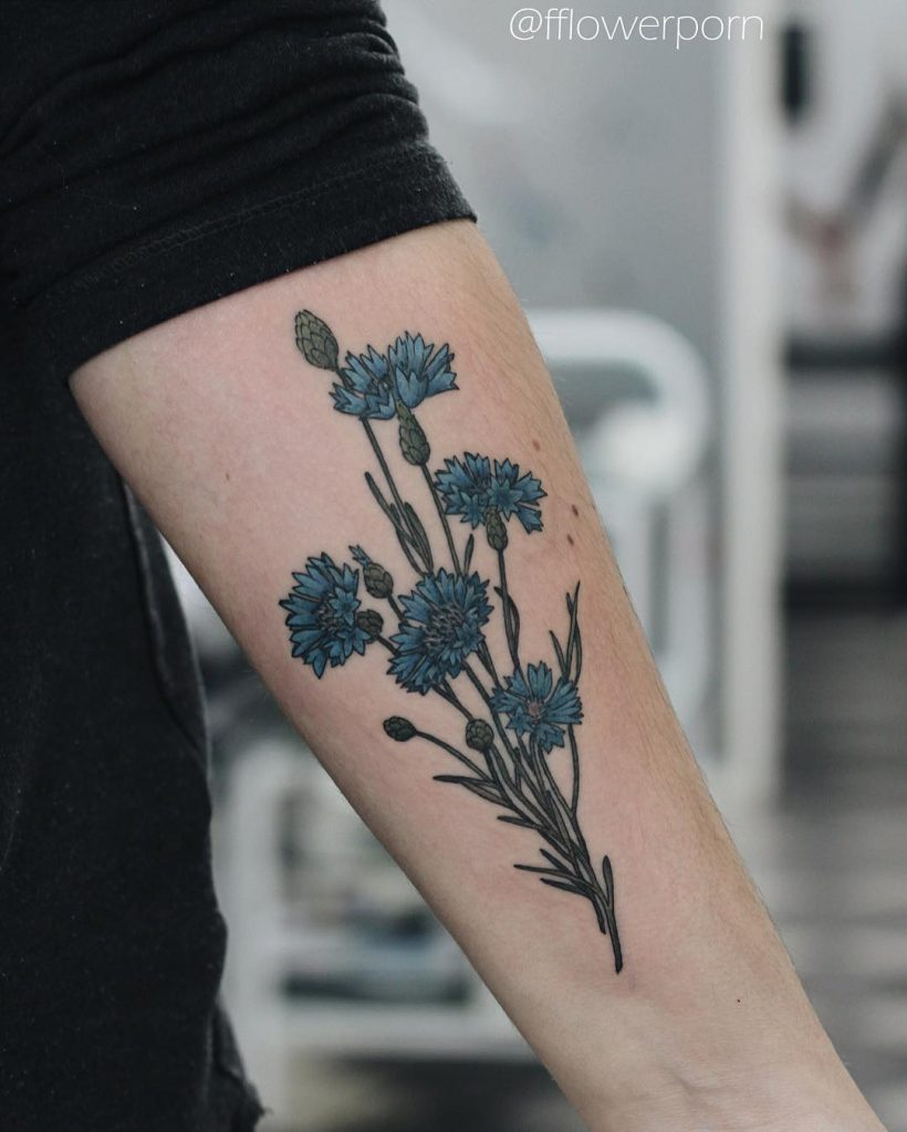 Cornflowers tattoo