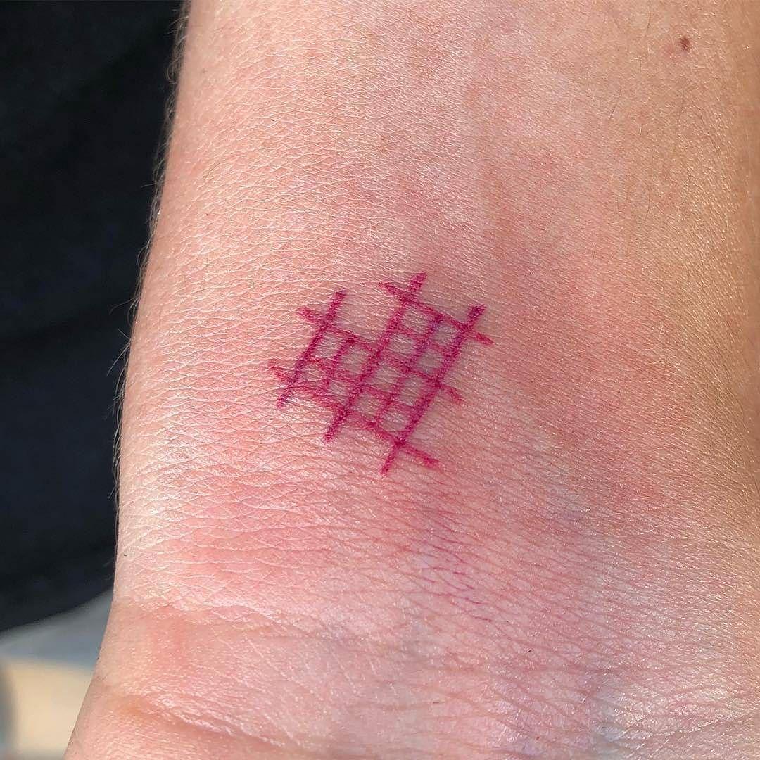Cross stitch heart tattoo by lilian lilianye