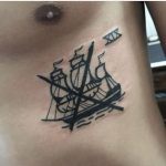 Crossed out ship tattoo by mikkel