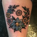 Cute floral wreath tattoo