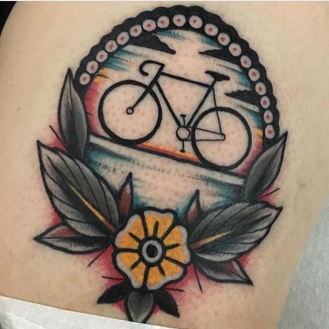 Cyclist's tattoo