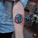 Earth tattoo by david cote