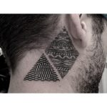 Geometric pattern triangle and rhombus tattoos