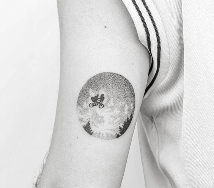 Hand poked e.t. tattoo