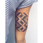 Herringbone floor tattoo