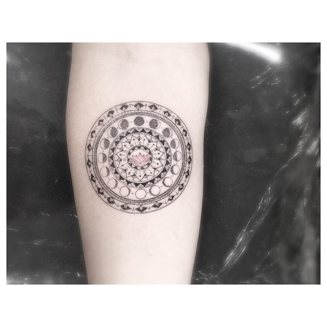 Hindu symbols tattoo