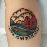 Home is in your head tattoo by jeroen van dijk