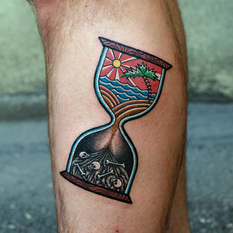 Hourglass of life tattoo