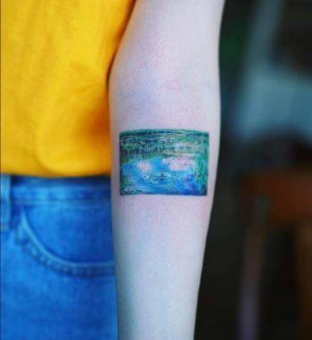 Impressionist's landscape tattoo