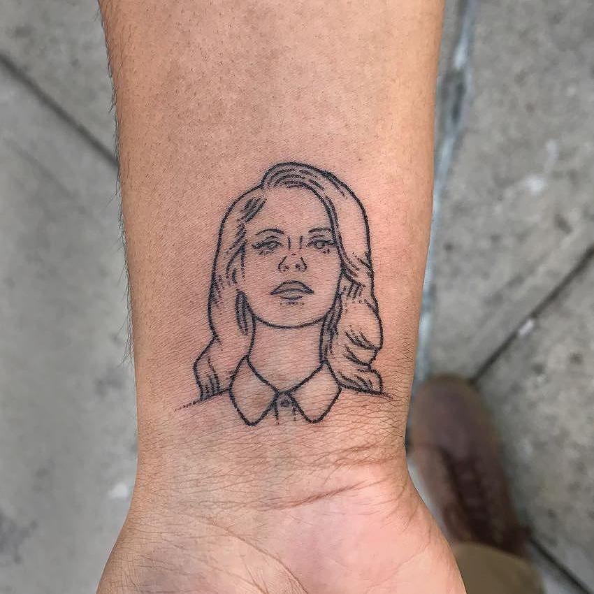 Lana del rey portrait tattoo