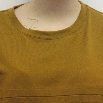 Libra constellation tattoo on the collarbone