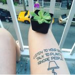 Listen to your body tattoo