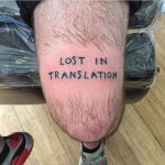 Lost in translation tattoo