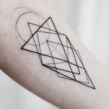 Low poly geometry tattoo