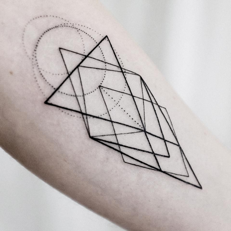 Low poly geometry tattoo