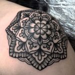 Mandala tattoo by jack peppiette