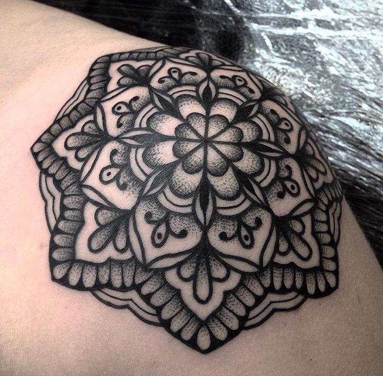 Mandala tattoo by jack peppiette