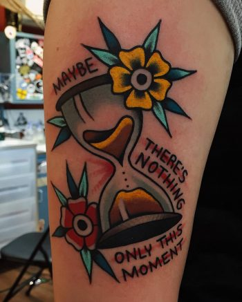 Maybe there's nothing only this moment tattoo