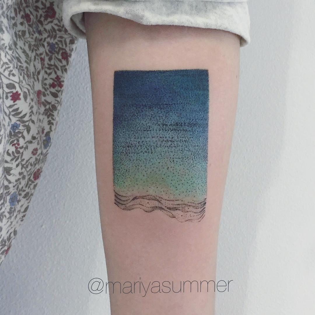 Minimalist gradient tattoo