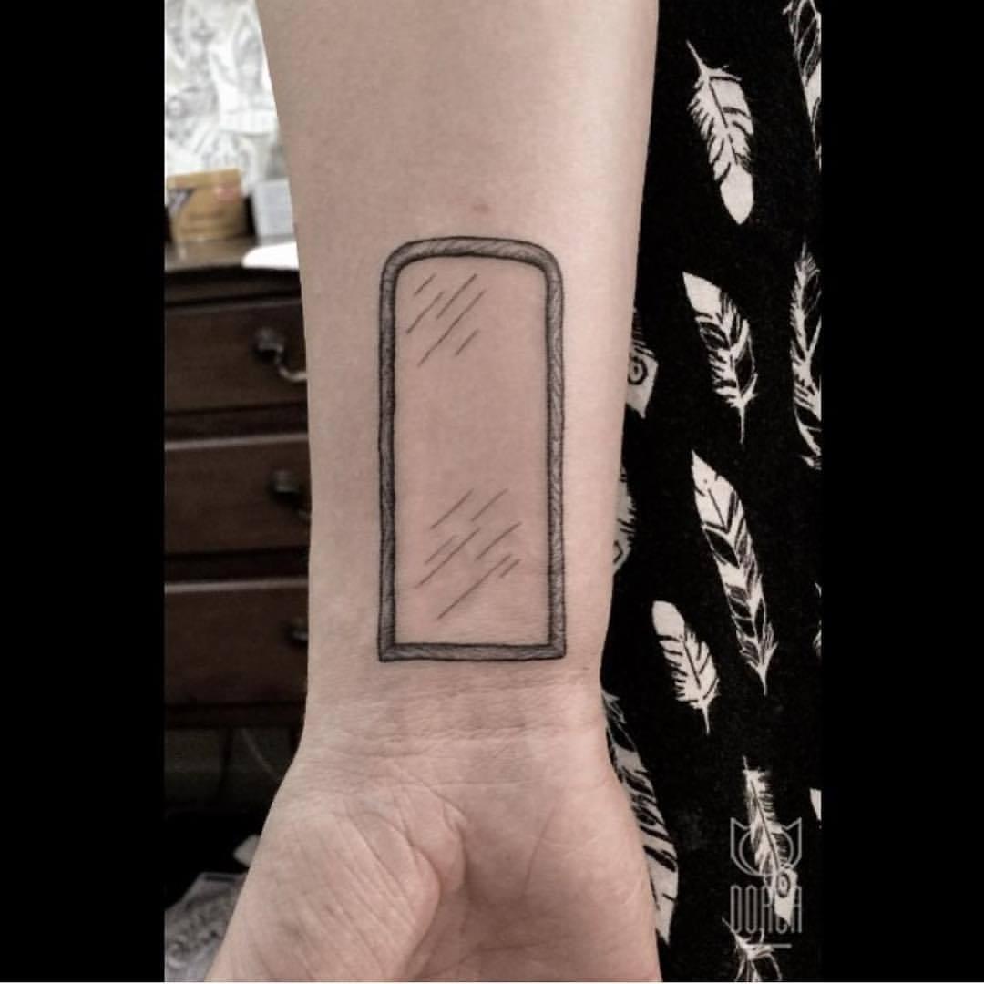 Mirror tattoo by dorca borca
