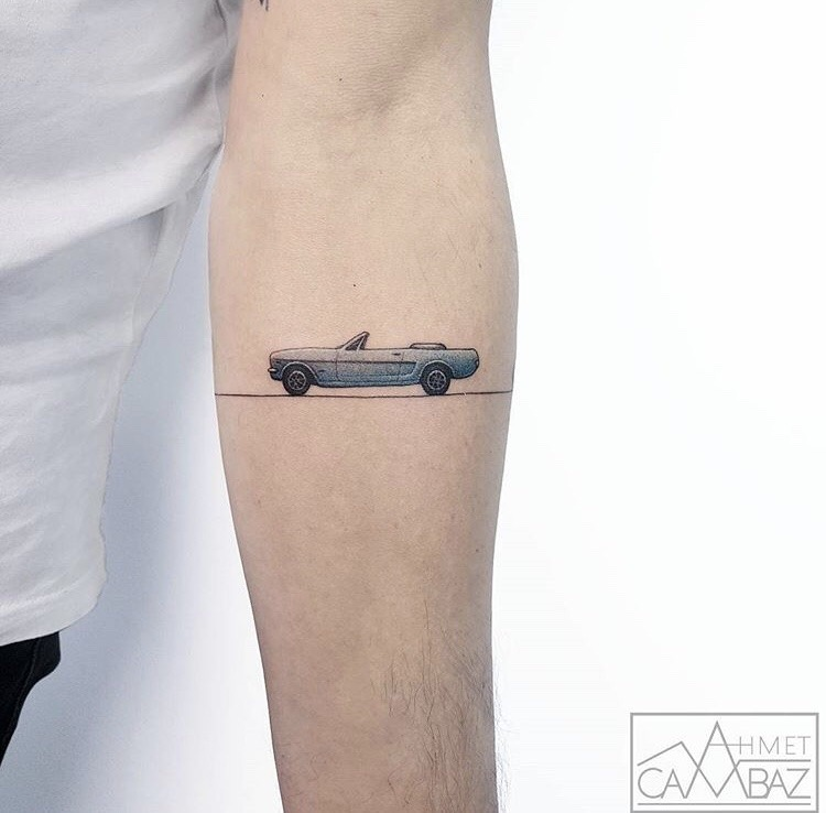 Mustang tattoo by ahmet cambaz