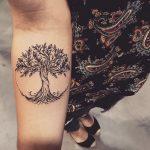 Mythological tree tattoo by lucas milk