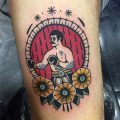 Neo traditional boxer tattoo