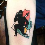 Ninja tattoo by luca font