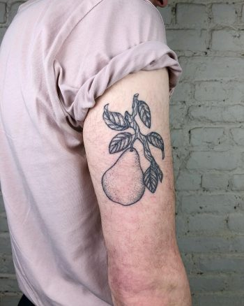 Pear tattoo