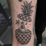 Pineapple island tattoo