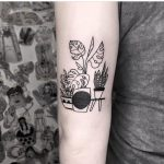 Plants in pots tattoo by dorca borca
