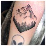 Rhombus mountain tattoo by craig ede