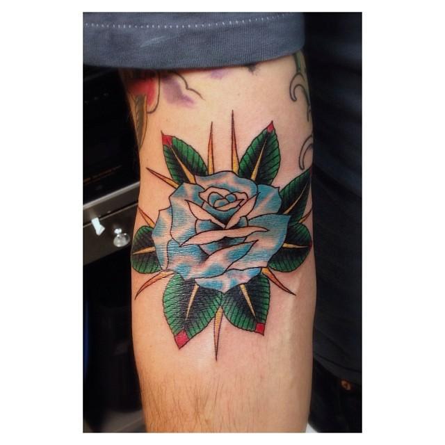 Rose in the ditch tattoo