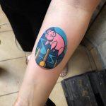 Sad pig tattoo eugene nedelko