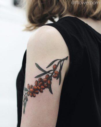 Sea buckthorn tattoo