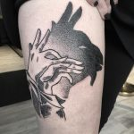 Shadow goat tattoo