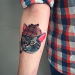 Sherlock cat tattoo