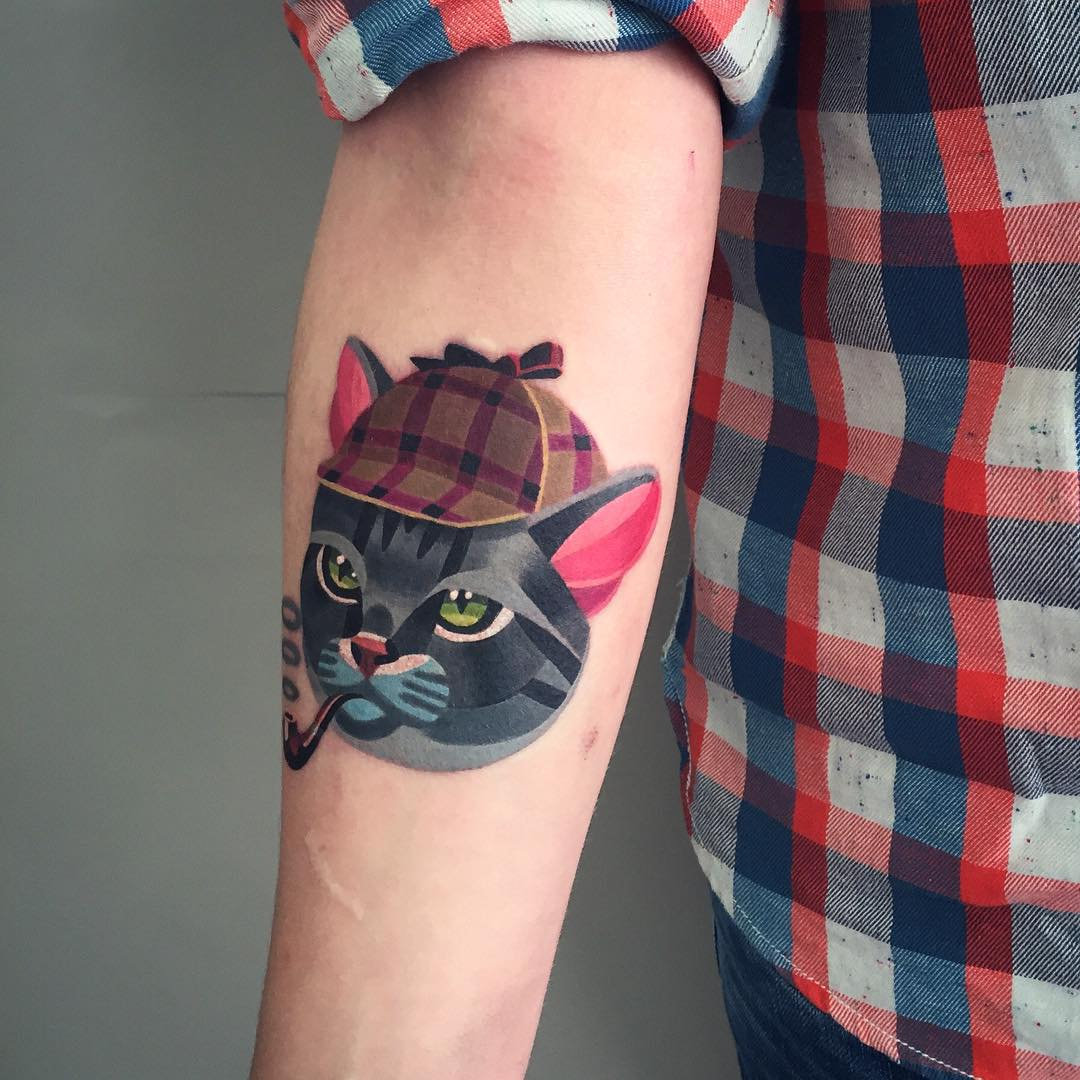 Sherlock cat tattoo