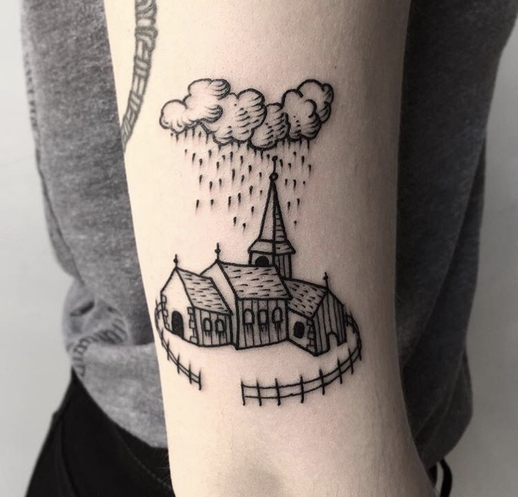 Small chapel tattoo