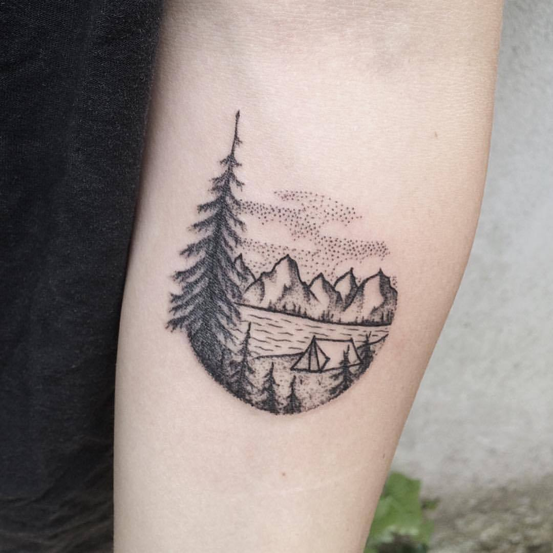 Small landscape tattoo by roald vd broek